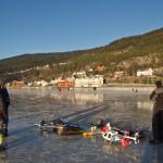 Flotte forhold for flyging på isen